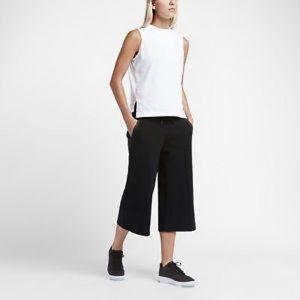 NIKE Tech Black Fleece Wide Leg Capri Pants